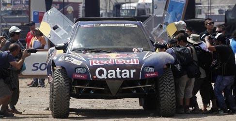 """Dakar 2013, etapa 1: Sainz debuta como líder en coches y """"Chaleco"""" López en motos"""