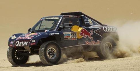 Dakar 2013, etapa 4: Barreda gana y Pain lidera en motos, Peterhansel aguanta la embestida
