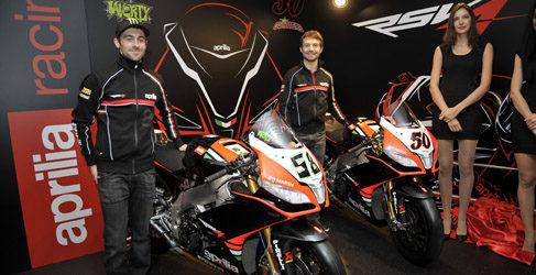 Aprilia Racing Team presenta su equipo del Mundial de Superbikes 2013