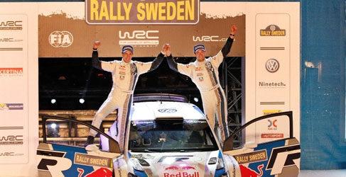 Sebastien Ogier y Yazeed Al-Rajhi ganadores del Rally de Suecia