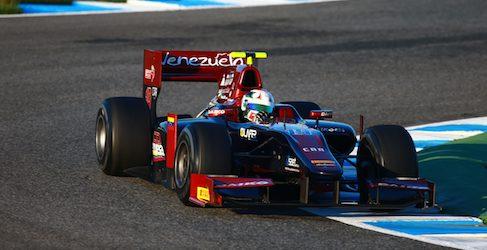 René Binder y Kevin Giovesi con Lazarus en el estreno de la pretemporada de GP2