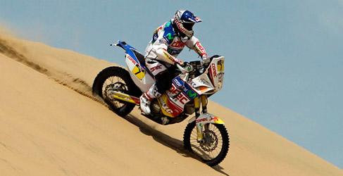 """Chaleco"" López piloto oficial KTM en el Dakar 2014"