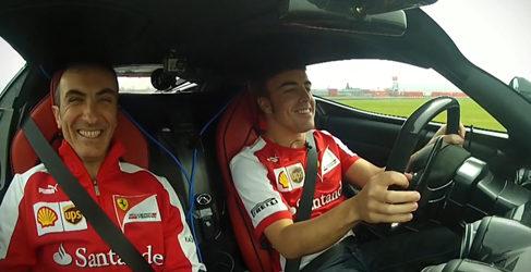 Fernando Alonso con el Ferrari LaFerrari