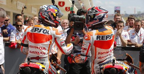 Dani Pedrosa y Marc Márquez aterrizan en Jerez