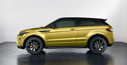 El Range Rover Evoque se viste de amarillo