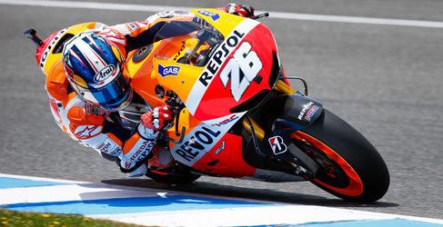 Jorge Lorenzo poleman de MotoGP en Jerez entre las caídas