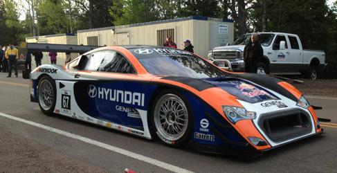 Rhys Millen en Pikes Peak con el Hyundai Genesis PM580T