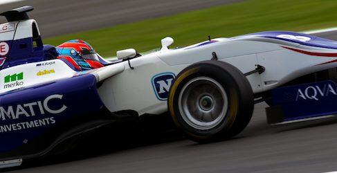 Kevin Korjus se hace con la pole de GP3 en Silverstone
