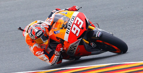 Marc Márquez y unos accidentados FP3 de MotoGP en Alemania