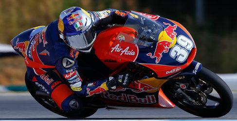 Luis Salom al mando en los FP3 de Moto3 en Brno