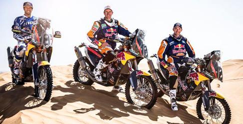 Marc Coma presenta la KTM 450 Rally 2014 en Marruecos