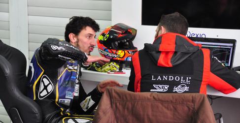 Louis Rossi y Warokorn con SAG en Moto2 2014