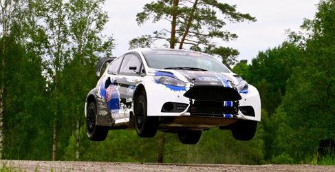 Andreas Bakkerud con OMSE en el Mundial de Rallycross