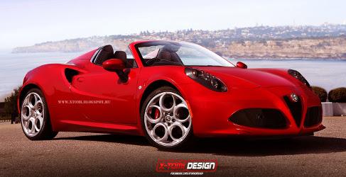Render del futuro Alfa Romeo 4C Spider