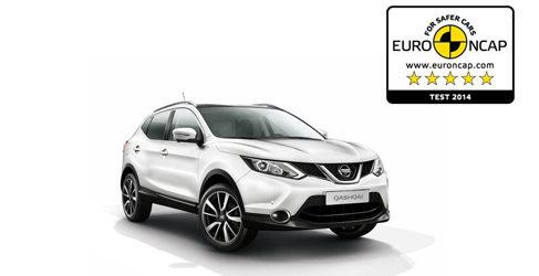 El Nissan Qashqai recibe 5 estrellas EuroNCAP