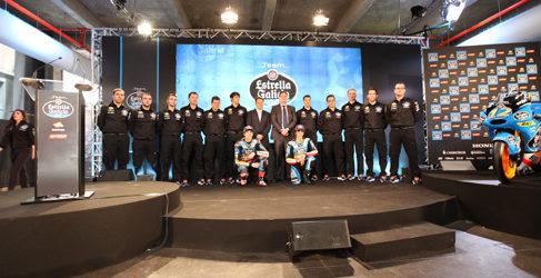 Presentación del Estrella Galicia 0,0 2014 de Moto3