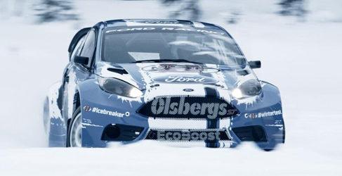 OlsbergsMSE de test con sus piloto de rallycross en Suecia